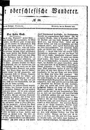 ˜Derœ Oberschlesische Wanderer vom 30.11.1841