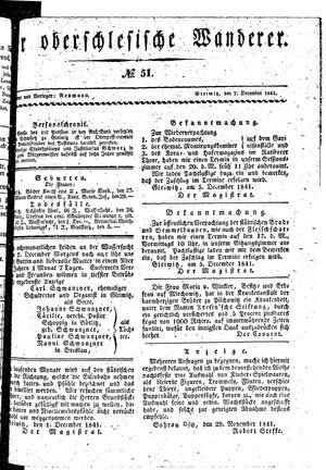 ˜Derœ Oberschlesische Wanderer vom 07.12.1841