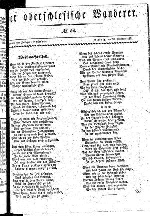 ˜Derœ Oberschlesische Wanderer vom 28.12.1841