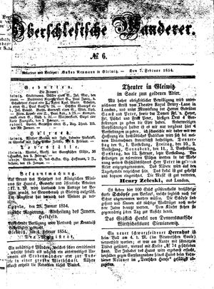 ˜Derœ Oberschlesische Wanderer vom 07.02.1854