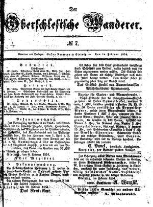 ˜Derœ Oberschlesische Wanderer vom 14.02.1854