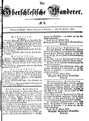 ˜Derœ Oberschlesische Wanderer vom 28.02.1854