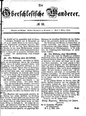 ˜Derœ Oberschlesische Wanderer vom 07.03.1854