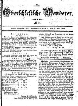 ˜Derœ Oberschlesische Wanderer vom 14.03.1854