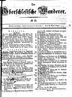 ˜Derœ Oberschlesische Wanderer vom 28.03.1854