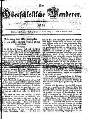 ˜Derœ Oberschlesische Wanderer vom 04.04.1854