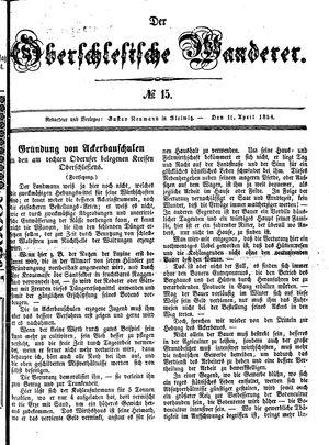 ˜Derœ Oberschlesische Wanderer vom 11.04.1854