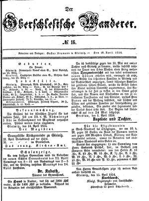 ˜Derœ Oberschlesische Wanderer vom 18.04.1854