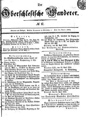 ˜Derœ Oberschlesische Wanderer on Apr 25, 1854