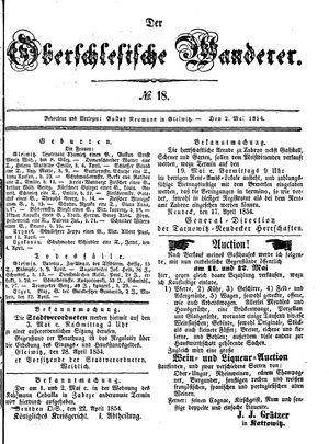 ˜Derœ Oberschlesische Wanderer vom 02.05.1854
