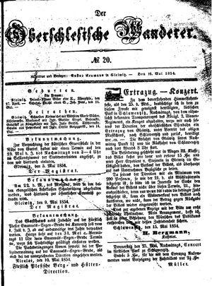 ˜Derœ Oberschlesische Wanderer vom 16.05.1854