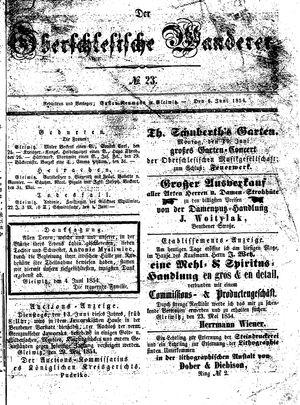 ˜Derœ Oberschlesische Wanderer vom 06.06.1854