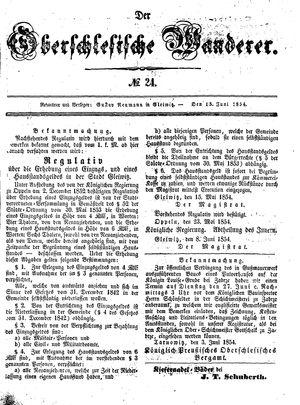 ˜Derœ Oberschlesische Wanderer vom 13.06.1854
