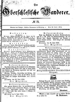 ˜Derœ Oberschlesische Wanderer vom 20.06.1854
