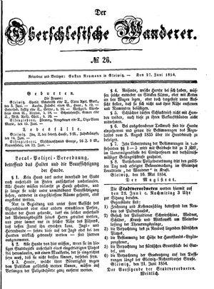 ˜Derœ Oberschlesische Wanderer vom 27.06.1854