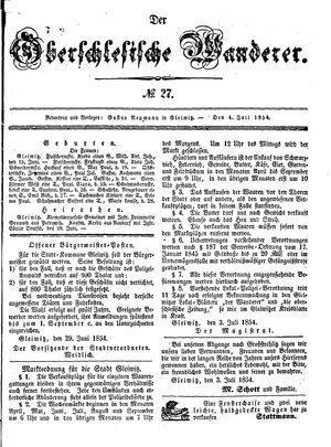 ˜Derœ Oberschlesische Wanderer vom 04.07.1854