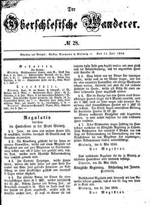 ˜Derœ Oberschlesische Wanderer vom 11.07.1854
