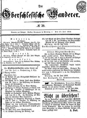 ˜Derœ Oberschlesische Wanderer vom 25.07.1854