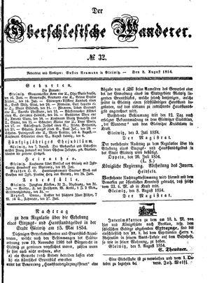 ˜Derœ Oberschlesische Wanderer vom 08.08.1854
