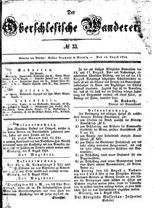 ˜Derœ Oberschlesische Wanderer vom 15.08.1854