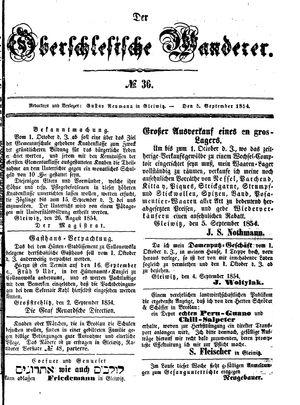˜Derœ Oberschlesische Wanderer vom 05.09.1854