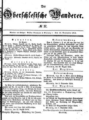 ˜Derœ Oberschlesische Wanderer vom 12.09.1854
