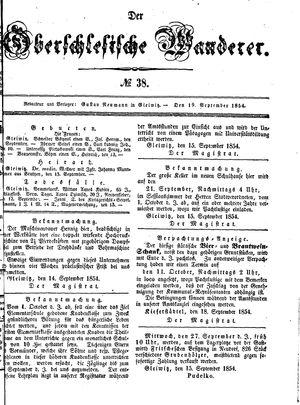 ˜Derœ Oberschlesische Wanderer vom 19.09.1854