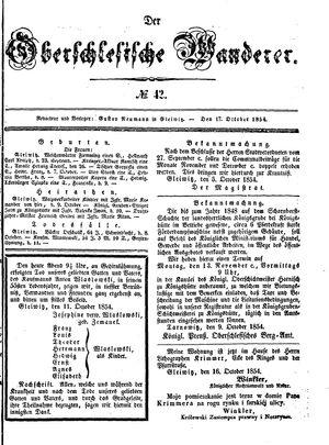 ˜Derœ Oberschlesische Wanderer vom 17.10.1854
