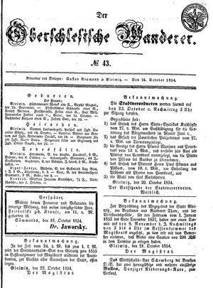 ˜Derœ Oberschlesische Wanderer vom 24.10.1854