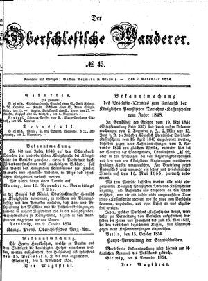 ˜Derœ Oberschlesische Wanderer vom 07.11.1854