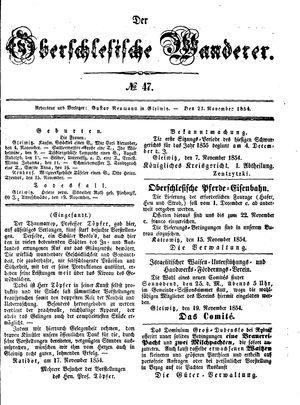˜Derœ Oberschlesische Wanderer vom 21.11.1854