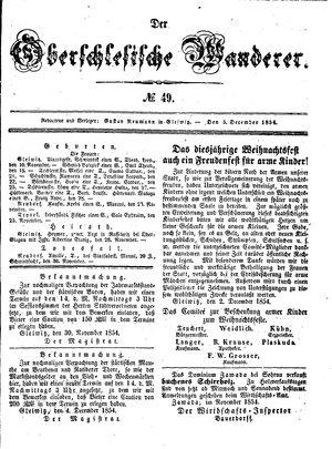 ˜Derœ Oberschlesische Wanderer vom 05.12.1854