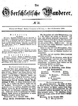 ˜Derœ Oberschlesische Wanderer vom 19.12.1854