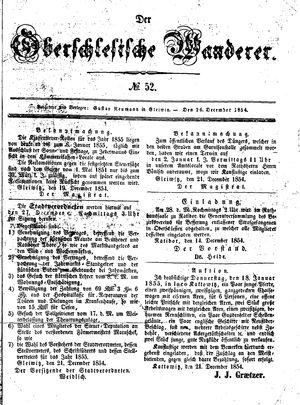 ˜Derœ Oberschlesische Wanderer vom 26.12.1854