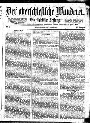 ˜Derœ Oberschlesische Wanderer vom 03.01.1895