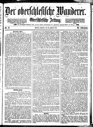 ˜Derœ Oberschlesische Wanderer vom 20.01.1895
