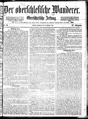 ˜Derœ Oberschlesische Wanderer vom 17.02.1895