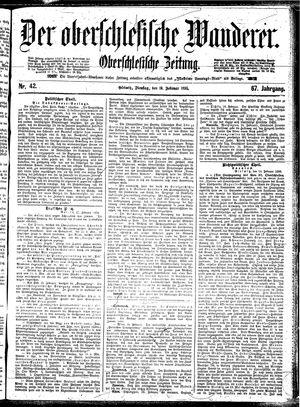 ˜Derœ Oberschlesische Wanderer vom 19.02.1895