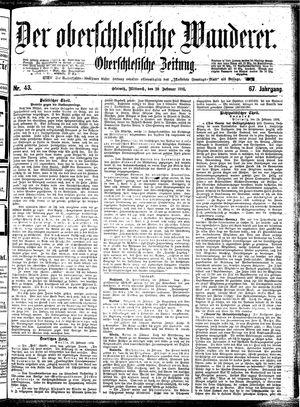 ˜Derœ Oberschlesische Wanderer vom 20.02.1895