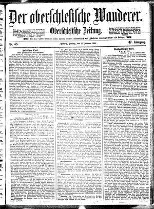 ˜Derœ Oberschlesische Wanderer vom 22.02.1895
