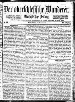 ˜Derœ Oberschlesische Wanderer vom 27.02.1895