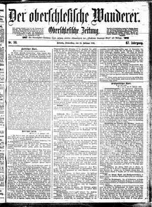˜Derœ Oberschlesische Wanderer vom 28.02.1895
