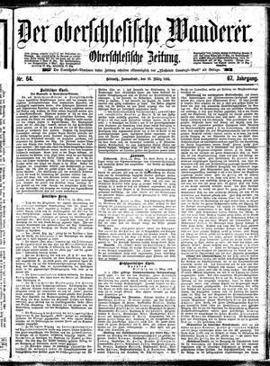 ˜Derœ Oberschlesische Wanderer vom 16.03.1895