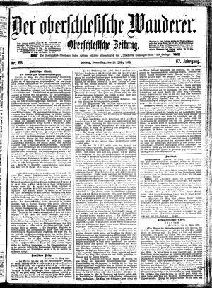 ˜Derœ Oberschlesische Wanderer vom 21.03.1895