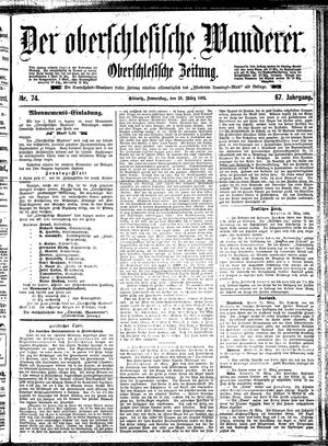 ˜Derœ Oberschlesische Wanderer vom 28.03.1895