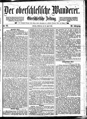 ˜Derœ Oberschlesische Wanderer vom 10.04.1895
