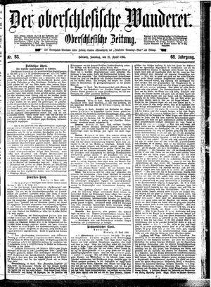 ˜Derœ Oberschlesische Wanderer vom 21.04.1895