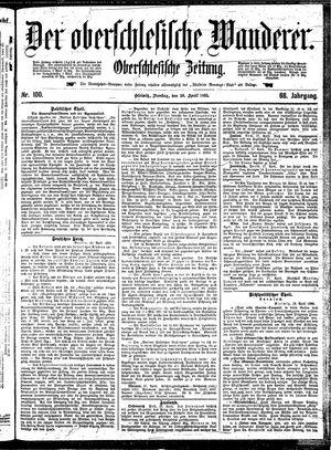 ˜Derœ Oberschlesische Wanderer vom 30.04.1895