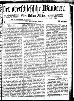 ˜Derœ Oberschlesische Wanderer vom 18.01.1896