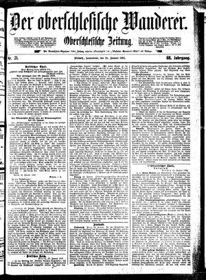 ˜Derœ Oberschlesische Wanderer vom 25.01.1896